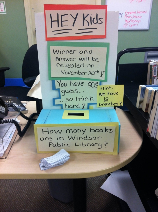 Library Contest: How many books are in the library?